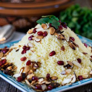 Almond Couscous with Pomegranate . www.keviniscooking.com