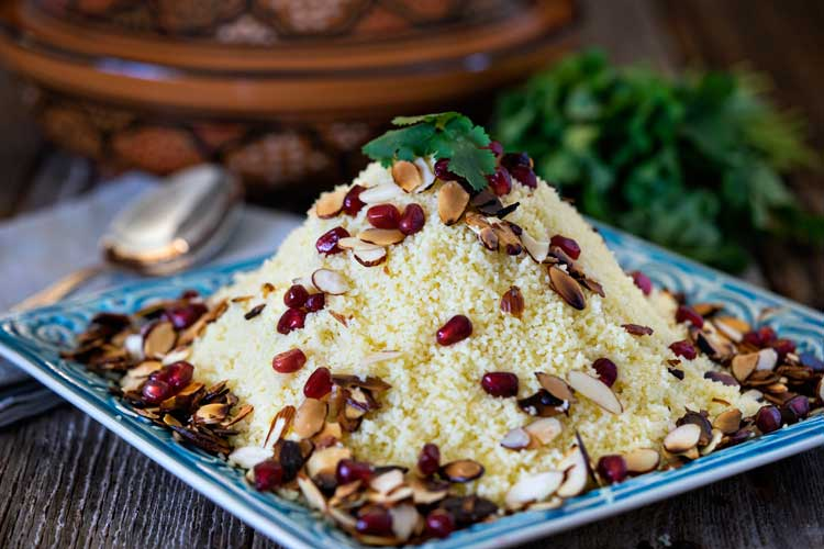 Almond Couscous with Pomegranate. www.keviniscooking.com