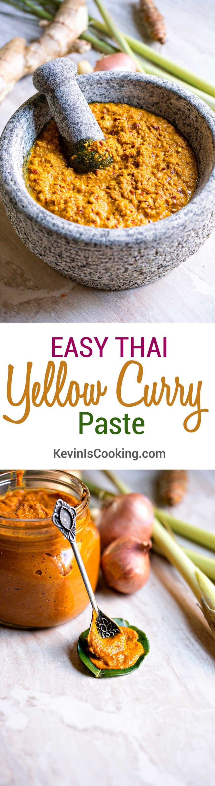Easy Thai Yellow Curry Paste. www.keviniscooking.com