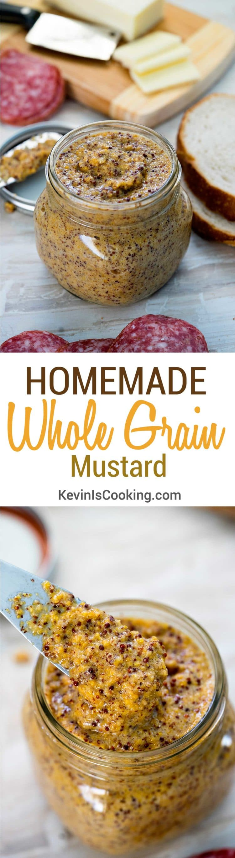 This Whole Grain Mustard is super easy to make, you know what goes in it and probably have everything in your pantry. With beer to bump up the flavor!