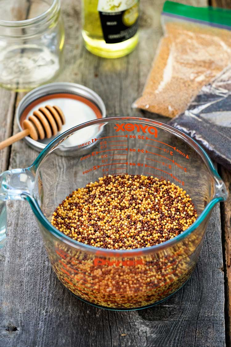 This Whole Grain Mustard is super easy to make, you know what goes in it and probably have everything in your pantry. With beer to bump up the flavor! www.keviniscooking.com
