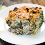 Italian Sausage, Gouda and Spinach Strata