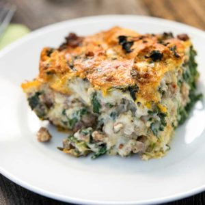 Italian Sausage, Gouda and Spinach Strata. www.keviniscooking.com