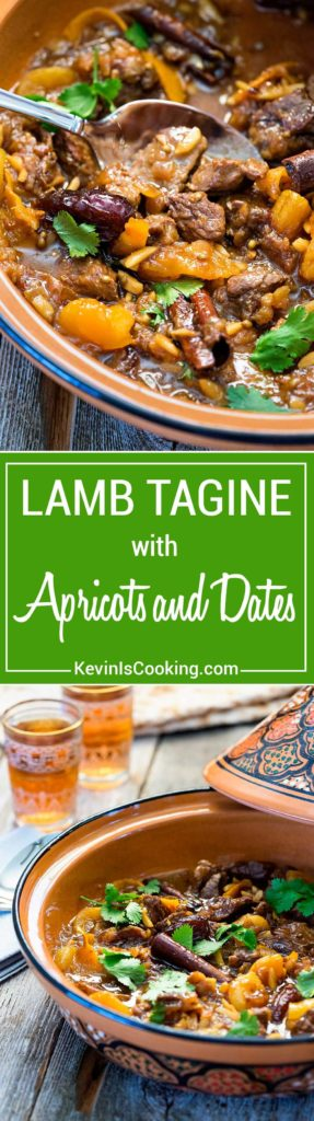 This Lamb Tagine with Dates has coriander, cinnamon and saffron mixed with the onion, garlic and almonds that simmer and the lamb is beyond tender. Use a casserole dish, it works perfectly!