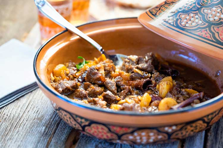 Lamb Tagine with Dates and Apricots - Kevin Is Cooking