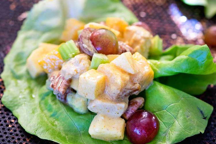 Mango Curry Chicken Salad Wraps