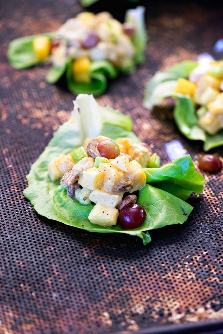 Mango Curry Chicken Salad Wraps. www.keviniscooking.com