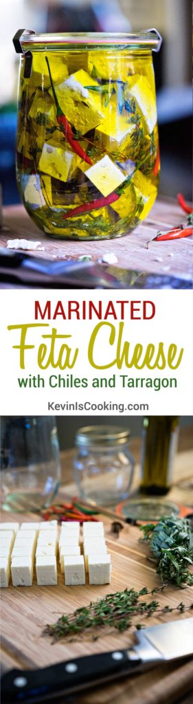 Marinated Feta Cheese with Chiles and Tarragon. www.keviniscooking.com