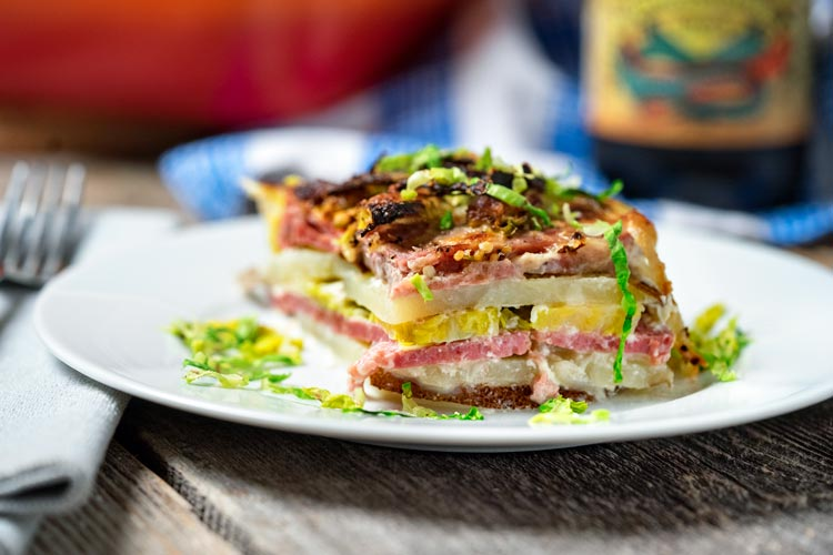 Want something different than the usual St. Patrick's Day dinner? How about this layered Corned Beef Potato Gratin with Brussels Sprouts? Let me show you! keviniscooking.com