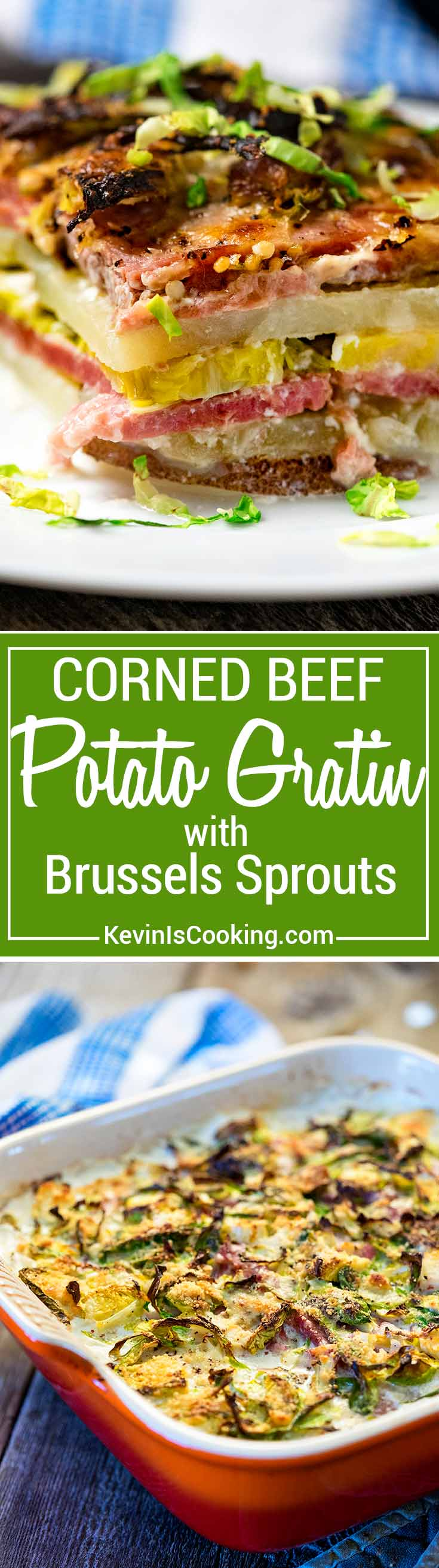 Want something different than the usual St. Patrick's Day dinner? How about this layered Corned Beef Potato Gratin with Brussels Sprouts? Let me show you!