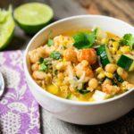 Langostino Corn and Chickpea Soup