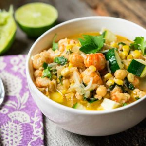A nice squeeze of lime on top and this made for a perfect and filling meal. I had some leftover brown basmati rice I added to the mix and a kiss of cumin, too. Hope you like it, we did and the sweet langostino was perfect in this. Enjoy!