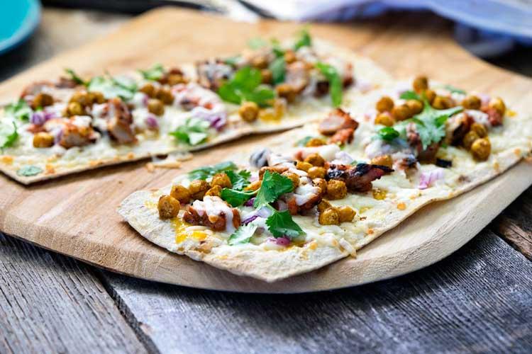 Tandoori Chicken Flatbread Pizza. www.keviniscooking.com
