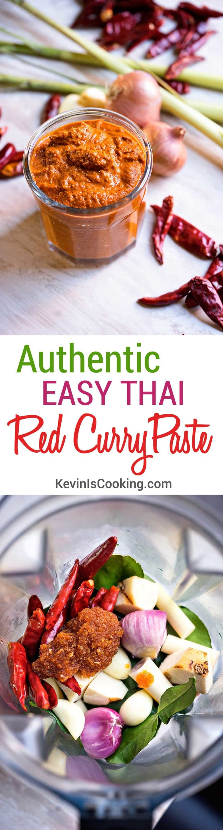 If authentic Thai is what you're looking for than you need this Easy Thai Red Curry Paste. With only 7 ingredients and 1 massive amount of POW this delivers!