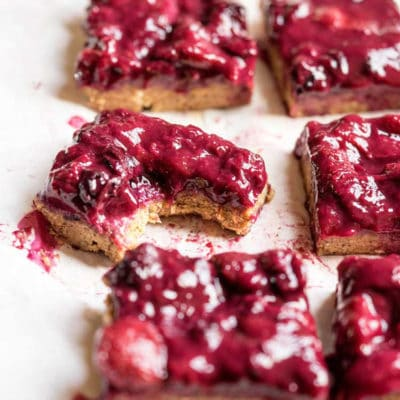No Bake Gluten Free Chai Berry Bars