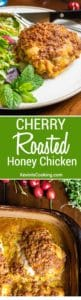 Cherry Roasted Honey Chicken. www.keviniscooking.com