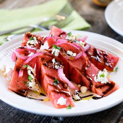 Chilled Watermelon Salad with Goat Cheese