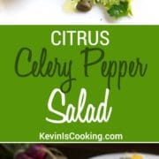 Celery and Pepper Salad. The underrated celery gets elevated here with herbs, citrus, and other goodies you just must try. So good it's a meal!