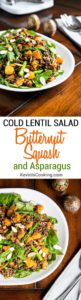 Cold Lentil Salad with Butternut Squash and Asparagus. www.keviniscooking.com