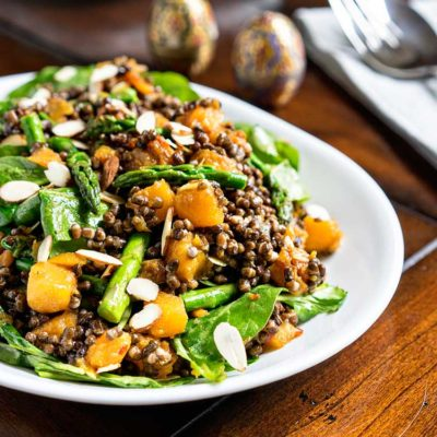 Cold Lentil Salad with Butternut Squash