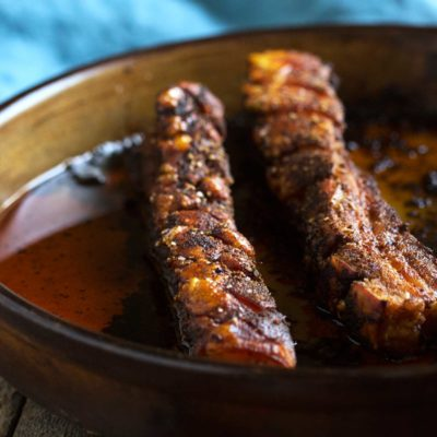 Honey Glazed Crispy Pork Belly