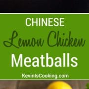 These addictive, tender chicken meatballs are a great mid-week dinner. Covered in a lemony sauce with great Asian flavors!