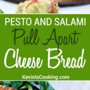 Pesto and Salami Pull Apart Bread | This couldn't be easier to make and is a crowd pleaser. Just look at all that cheese, salami and the pesto makes it!