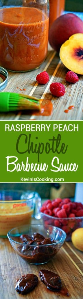 Raspberry Peach Chipotle BBQ Sauce. Finger licking good with just enough heat and tangy fruit flavor to keep you reaching back for more.