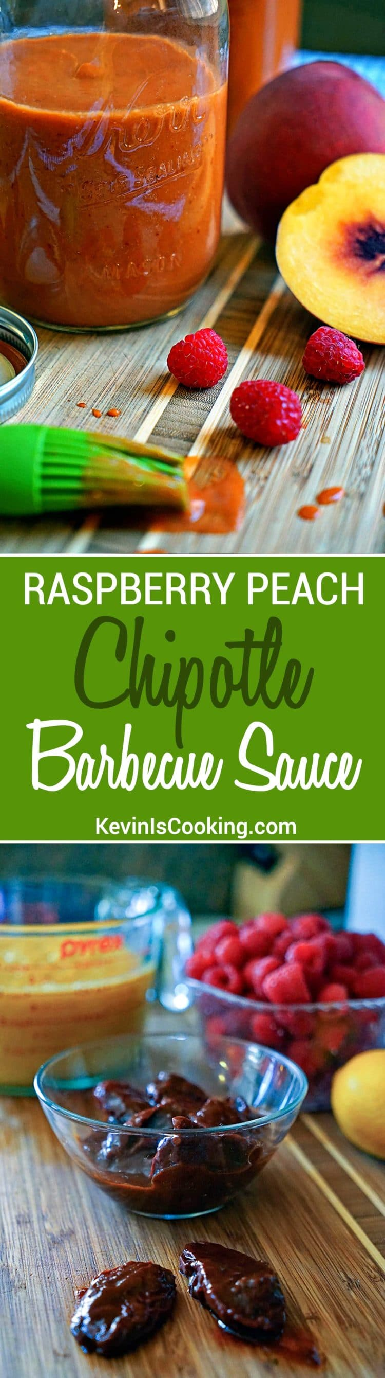 Raspberry Peach Chipotle Barbecue Sauce. Finger licking good with just enough heat and tangy fruit flavor to keep you reaching back for more.
