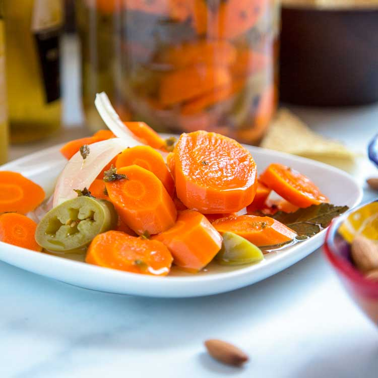 Authentic Mexican Pickled Carrots