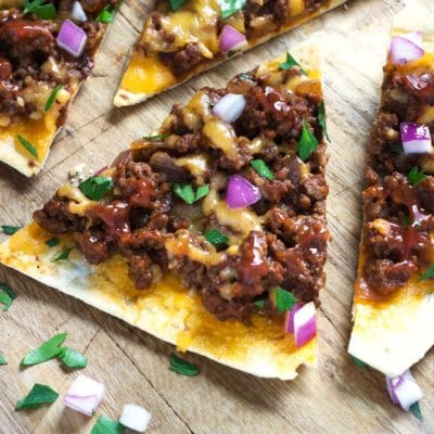 Chipotle Sloppy Joe Flatbreads