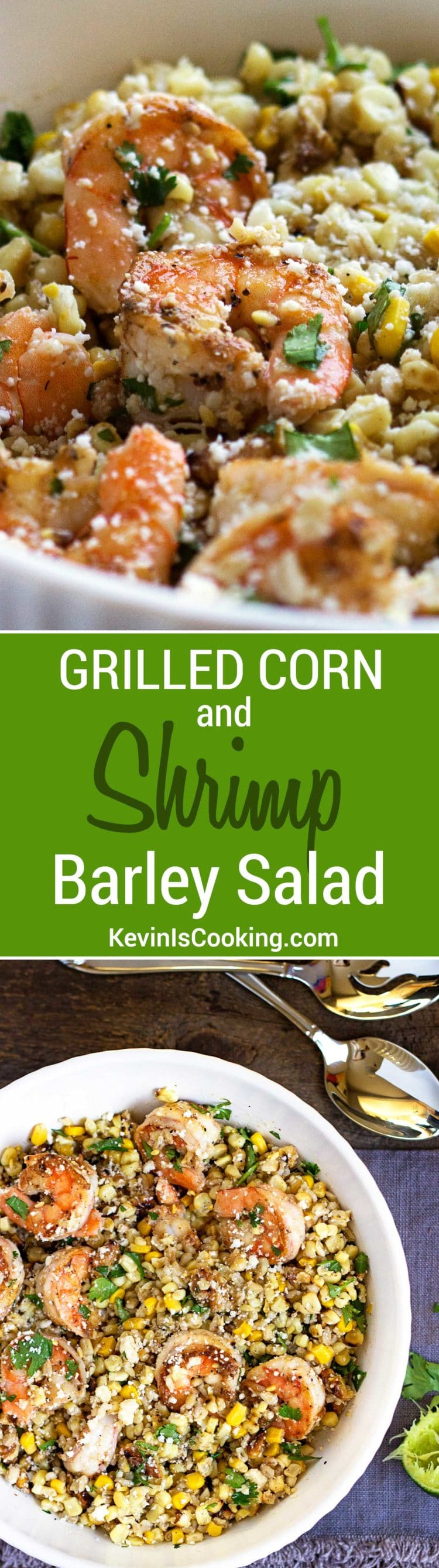 Shrimp Corn and Barley Salad.
