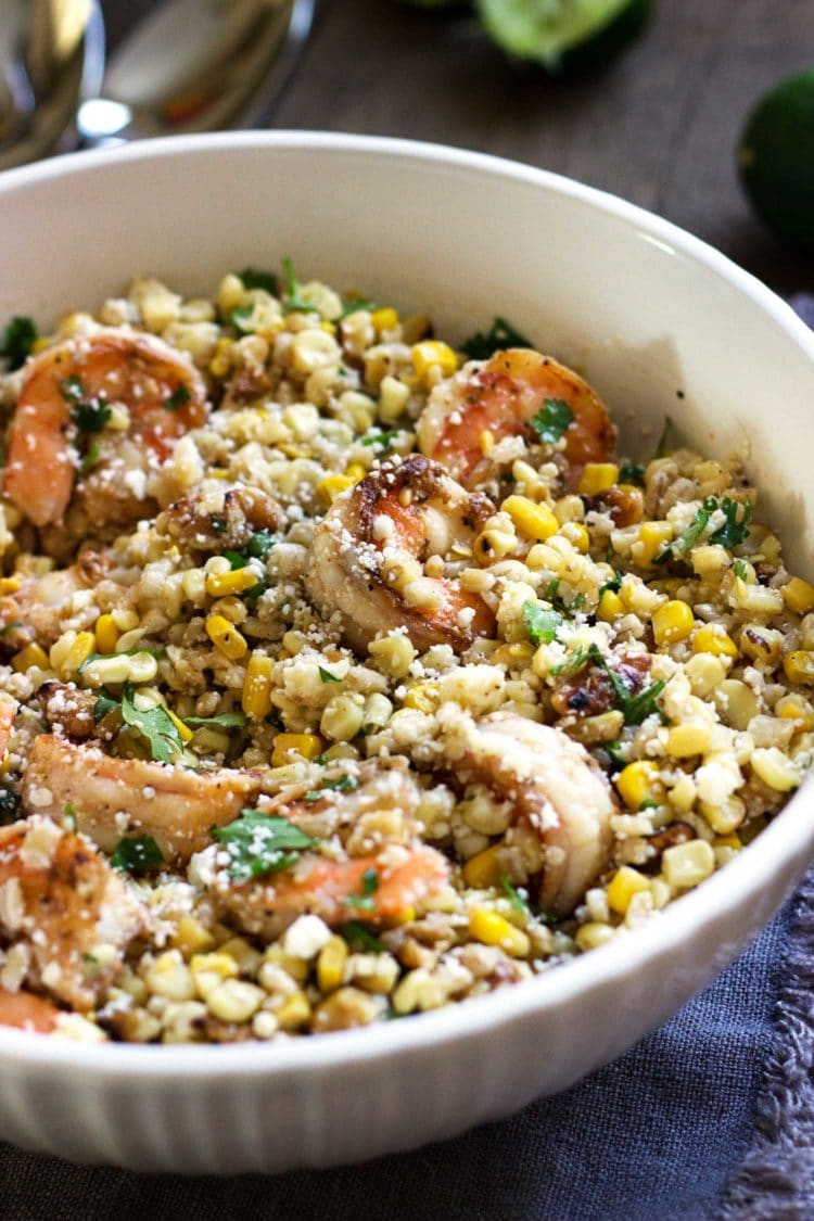 Shrimp Corn and Barley Salad. www.keviniscooking.com