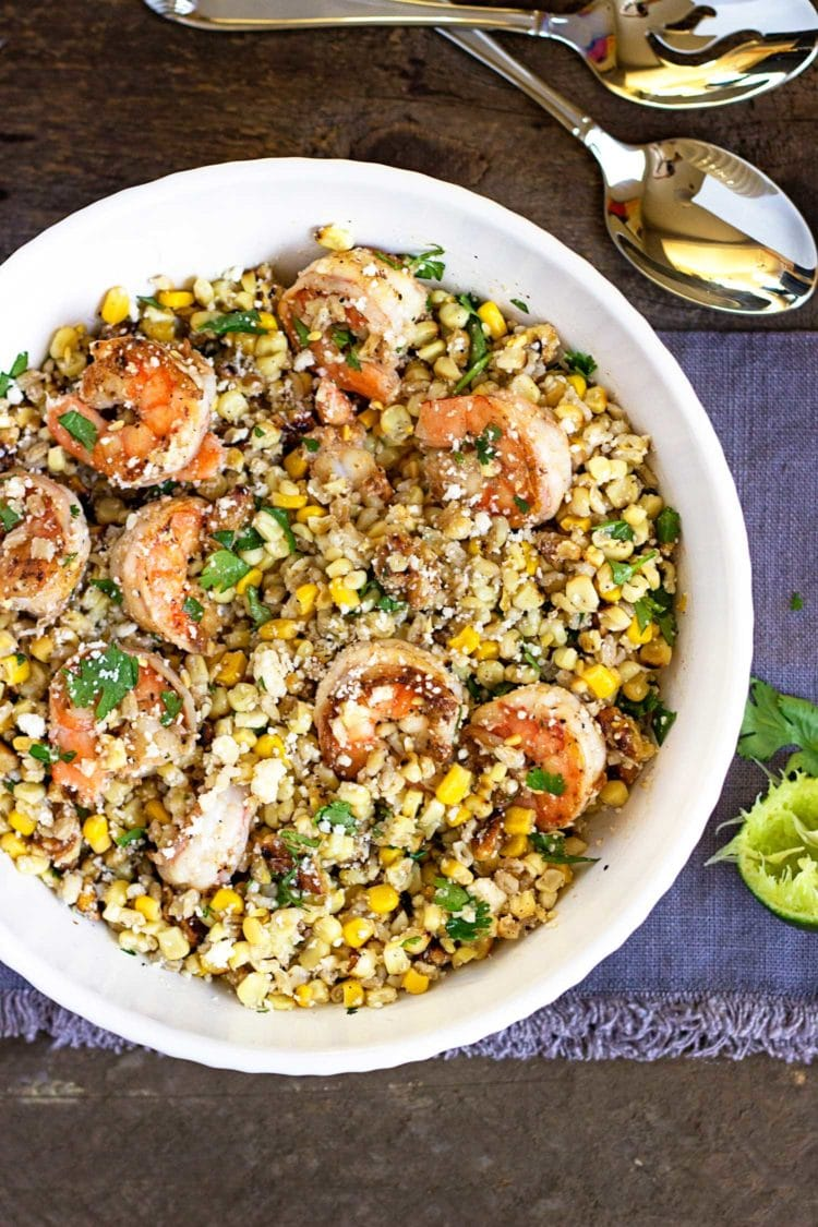 Shrimp Corn and Barley Salad. www.keviniscooking.com