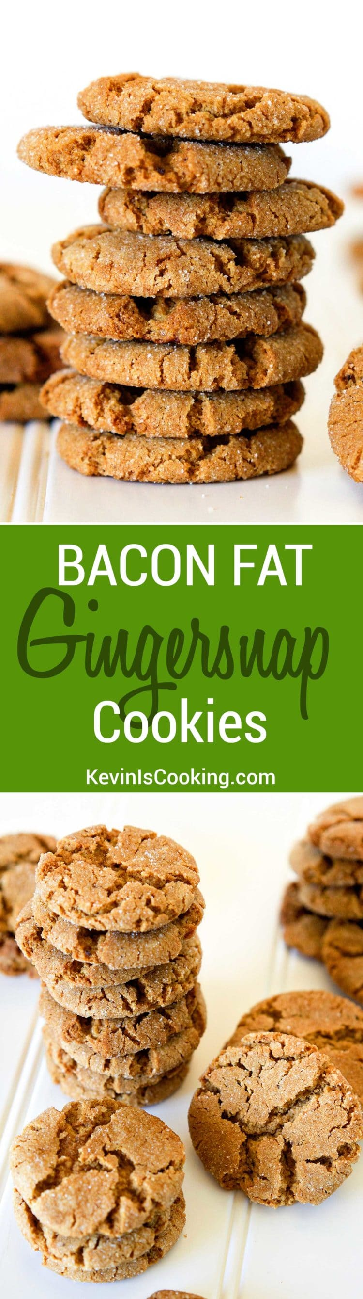 Bacon fat subs for butter (It's subtle smokey undertones add a richness) with molasses and ginger to make a taste sensation cookie. This will be your new favorite cookie, and this coming from a true chocaholic!