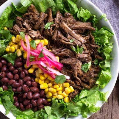 Slow Cooker Barbacoa Beef Bowls
