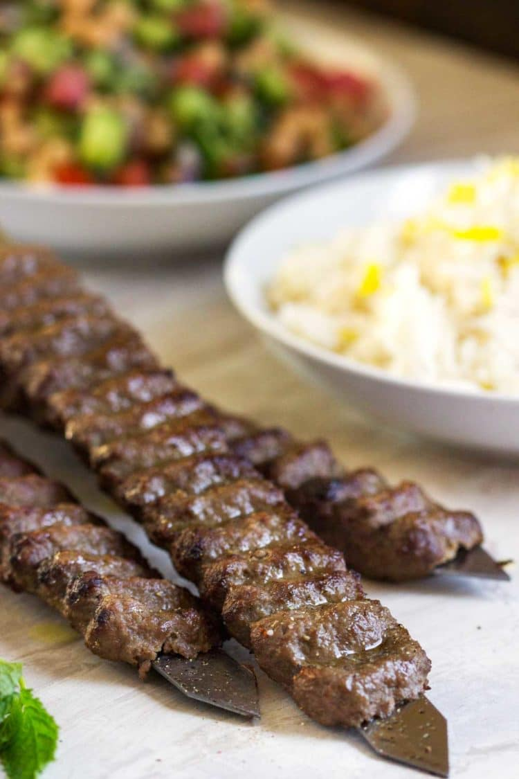 Beef and Lamb Kabobs - Kevin Is Cooking