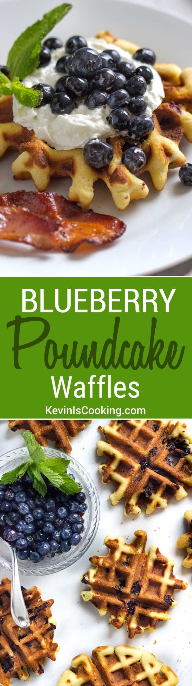Talk about being treated to an amazing breakfast, these Blueberry Poundcake Waffles will blow your socks off. My decadent surprise for any weekend breakfast treat!