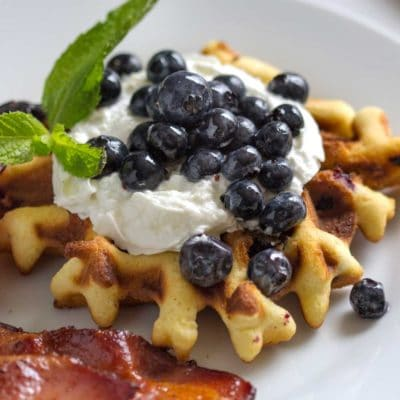 Blueberry Poundcake Waffles