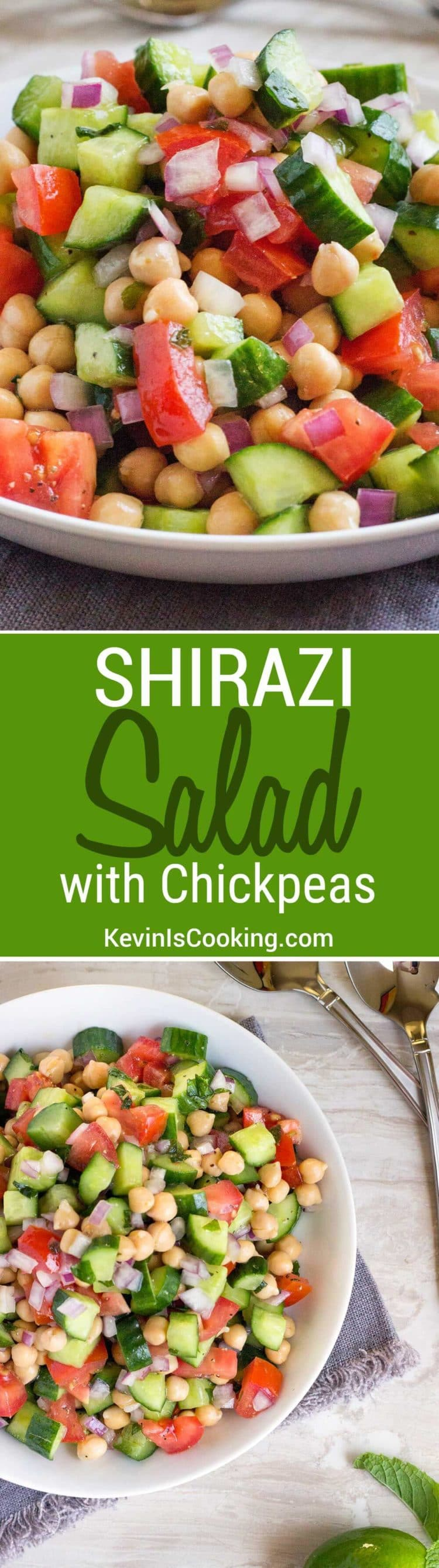 The Shirazi Salad is a refreshing, healthy and simple salad of tomato, cucumber, citrus and herbs. Persian in origin, a perfect side dish or on it's own.