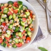 The Shirazi Salad is a refreshing, healthy and simple salad of tomato, cucumber, citrus and herbs. Persian in origin, a perfect side dish or on it's own. www.keviniscooking.com