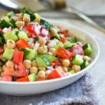 Shirazi Salad with Chickpeas