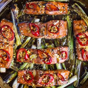 This tasty Broiled Salmon with Honey Sesame Glaze gets marinaded for 30 and broiled in 2 minutes. Can't get any easier and the family loves it! www.keviniscooking.com