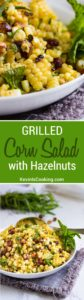 A fantastic Grilled Corn Salad with Hazelnuts and Mint is one family summer salad favorite. The citrus vinaigrette makes it!