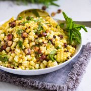 A fantastic Grilled Corn Salad with Hazelnuts and Mint is one family summer salad favorite. The citrus vinaigrette makes it! www.keviniscooking.com