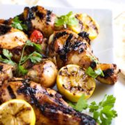 This Honey Glazed Harissa Grilled Chicken has just the right kiss of heat and the honey sweetens this up for a twist on the regular BBQ chicken. The family loves it! www.keviniscooking.com