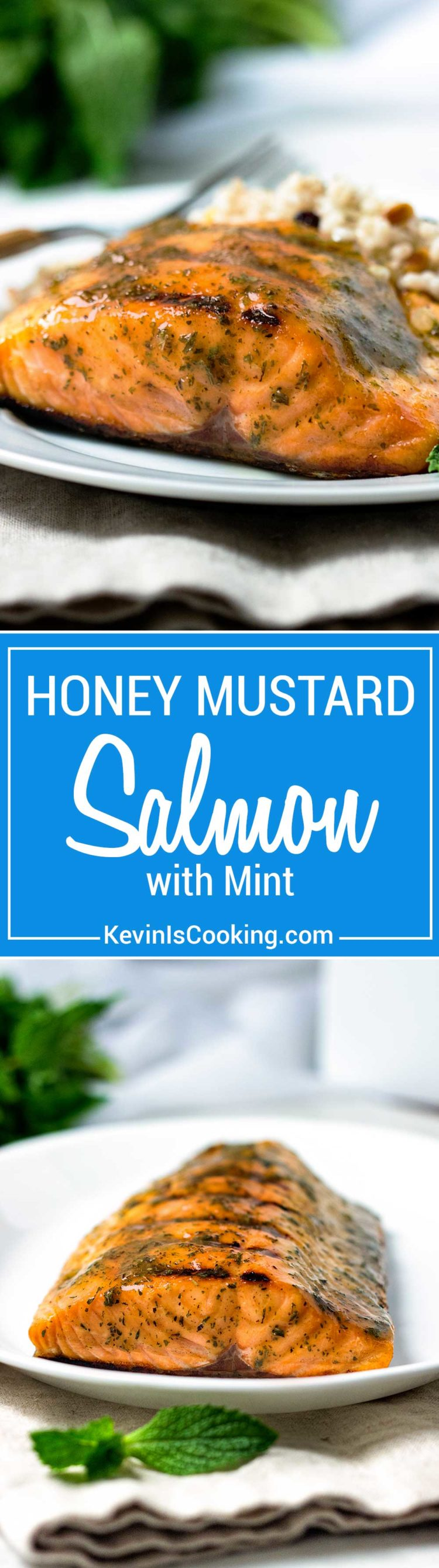 This Honey Mustard Grilled Salmon is super easy quick and healthy. A honey, mustard and dried mint sauce bastes after grilling. Perfect mid-week dinner everyone loves.