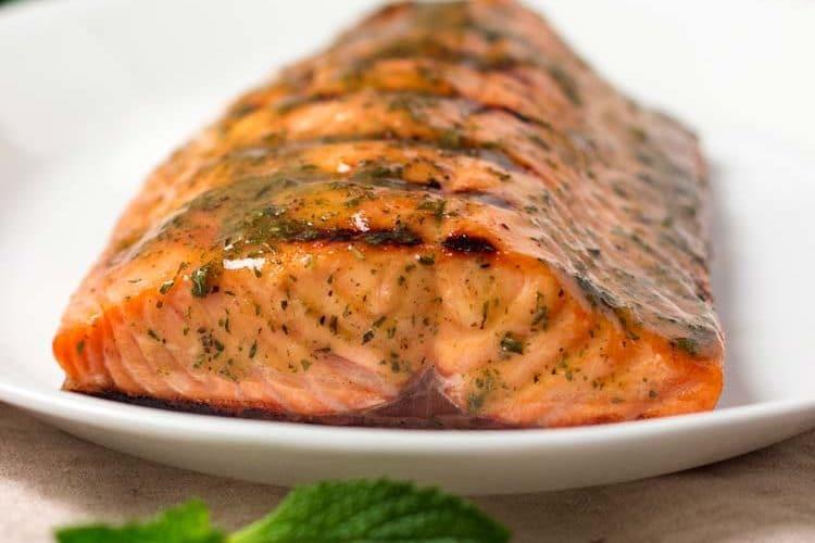 Honey Mustard Grilled Salmon