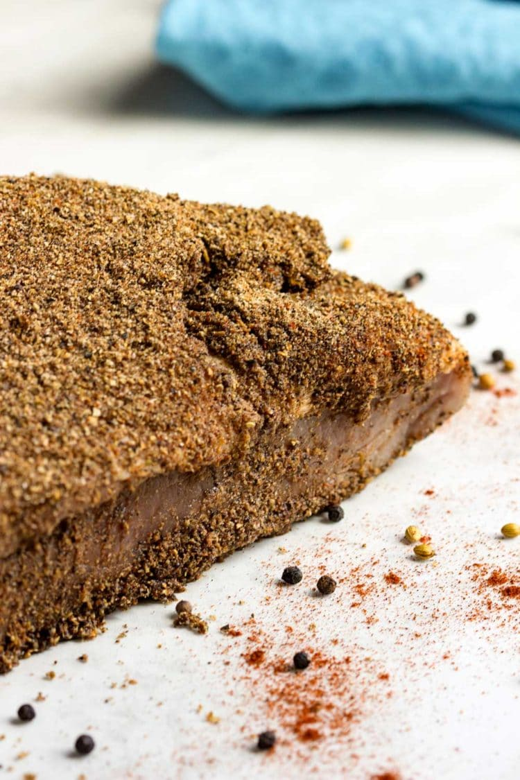 dry rubbed pastrami