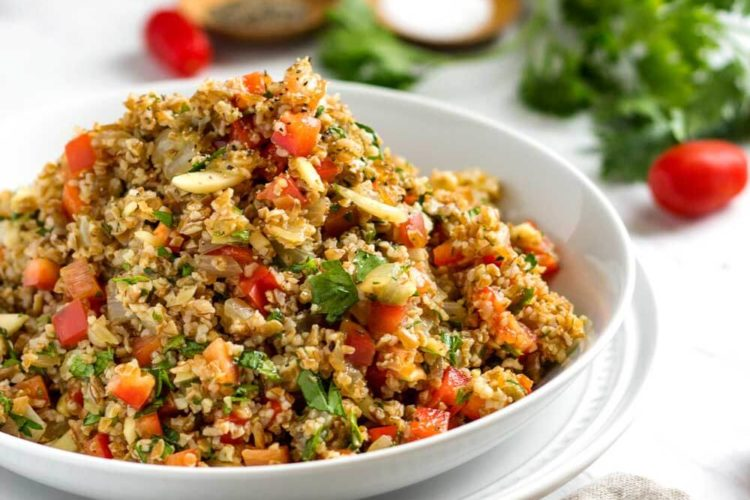 Orange Bulgur Wheat Salad